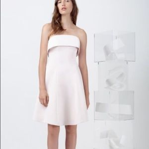 NWT Keepsake Size S Pink Strapless Fit Flare Dress